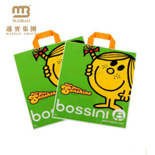Custom design brand logo print disposable recyclable shopping plastic bag